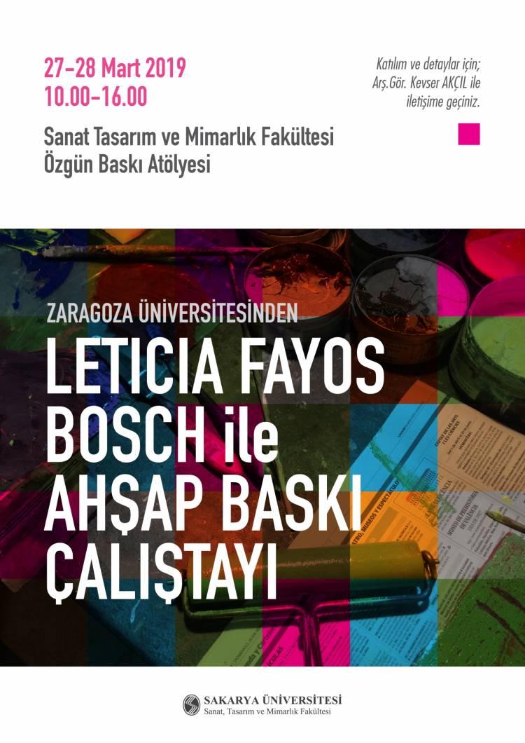 Leticia Fayos Bosch ile Ahşap Baskı Çalıştayı